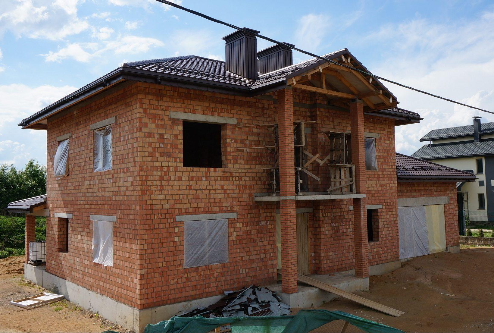 Строительство коробки дома из керамического пустотелого блока