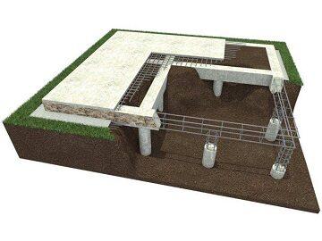 Строительство свайно-ростверковых фундаментов